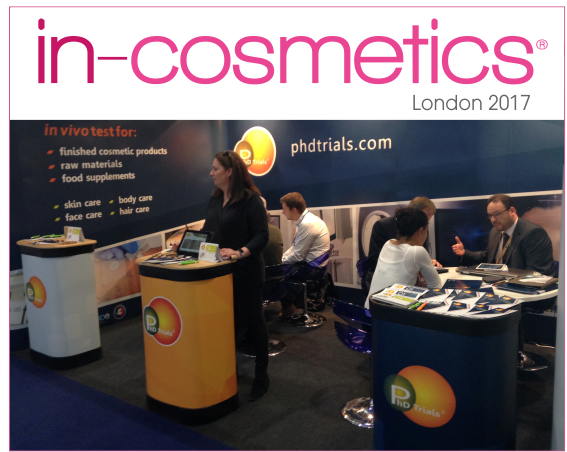PhD Trials® at in-cosmetics®, in London.